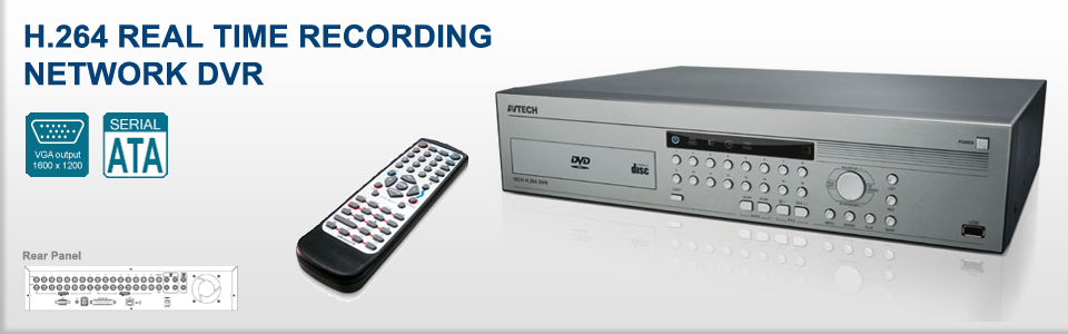 H.264 REAL TIME RECORDING NETWORK DVR